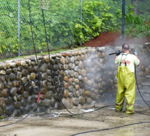 Stone And Brick Wall Washing Atlantic Power Cleaning